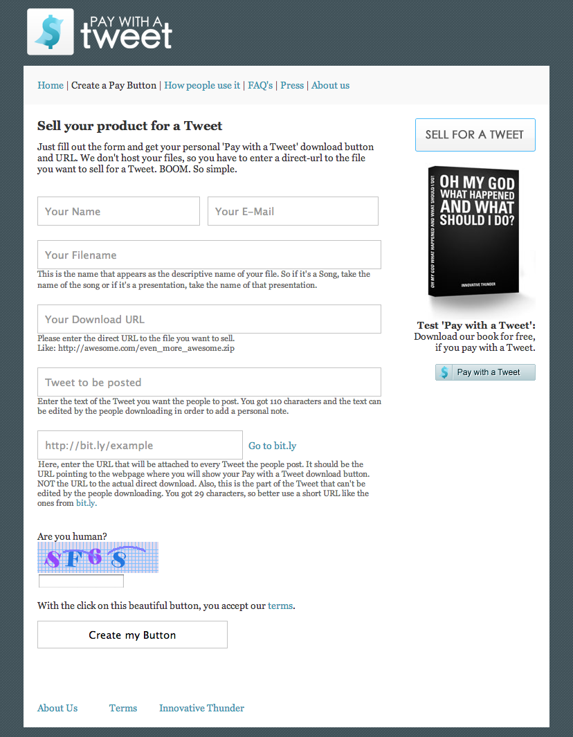 Pay with a Tweet A social payment system